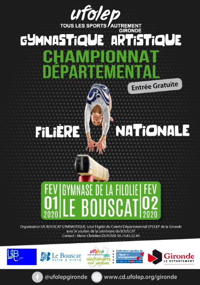 Championnat départemental de niveau National au Bouscat 01 & 02 février 2020